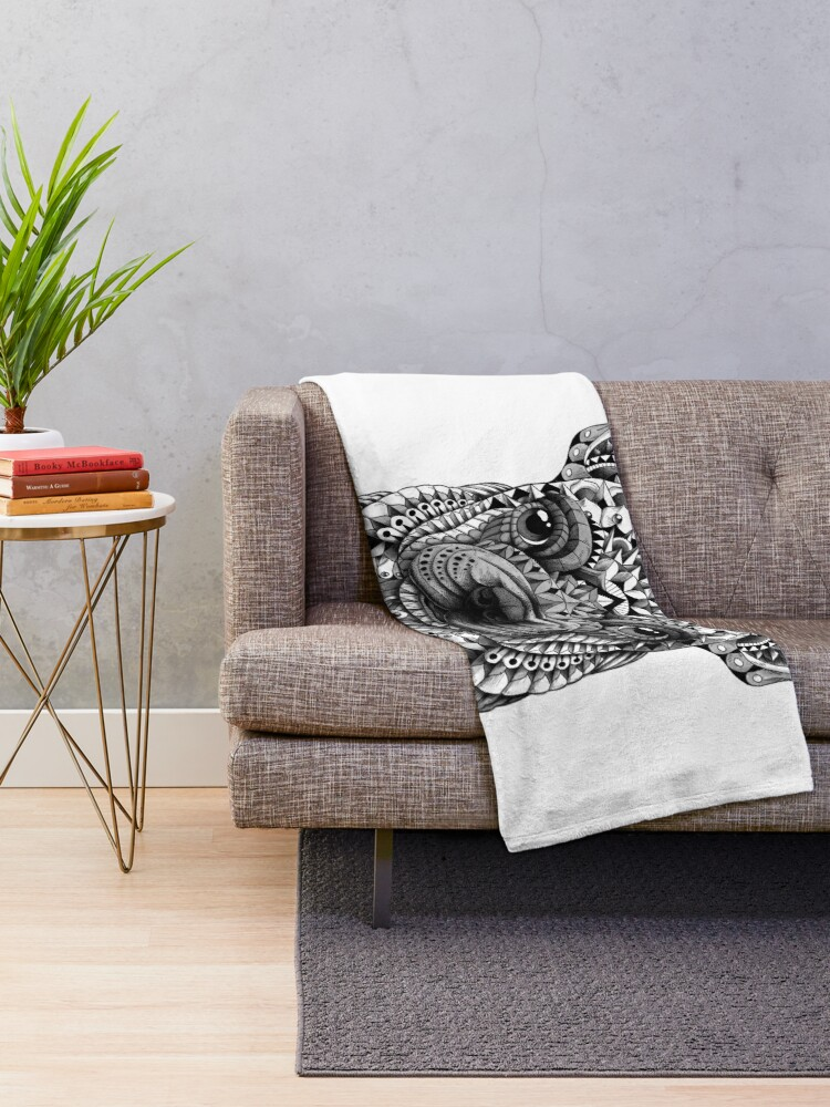 Alternate view of Frenchie (French Bulldog) Throw Blanket