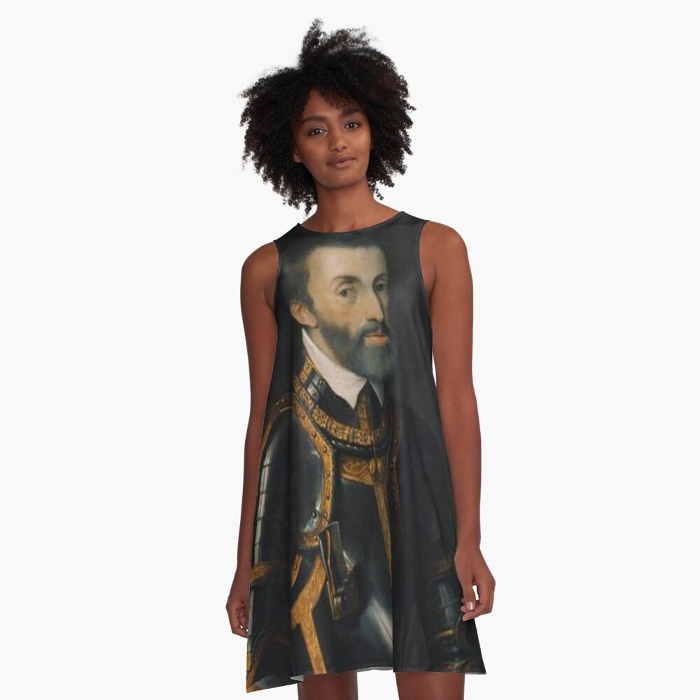 Portrait of Emperor Charles V A-Line Dress