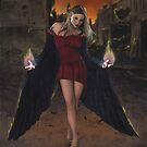 Vengeful Angel - Leggings design by KC Art