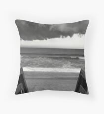 Stormy weather.. Throw Pillow