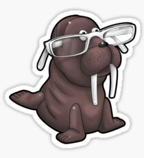 Walrus with Eyeglasses Sticker