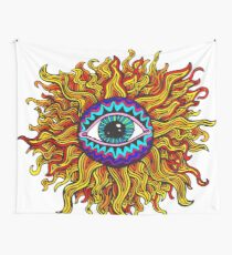 Psychedelic Sunflower - Just the flower Wall Tapestry