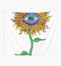 Psychedelic Sunflower - Exciting New Art - Doona is my favourite! Wall Tapestry
