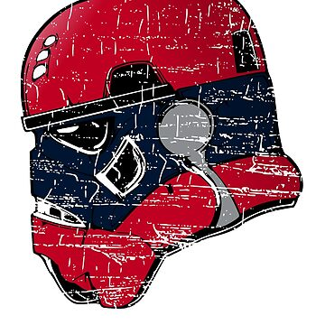 NEW ENGLAND FOOTBALL INSPIRED TROOPER HELMET IN YOUR FAVORITE TEAMS COLORS by NotYourDesign