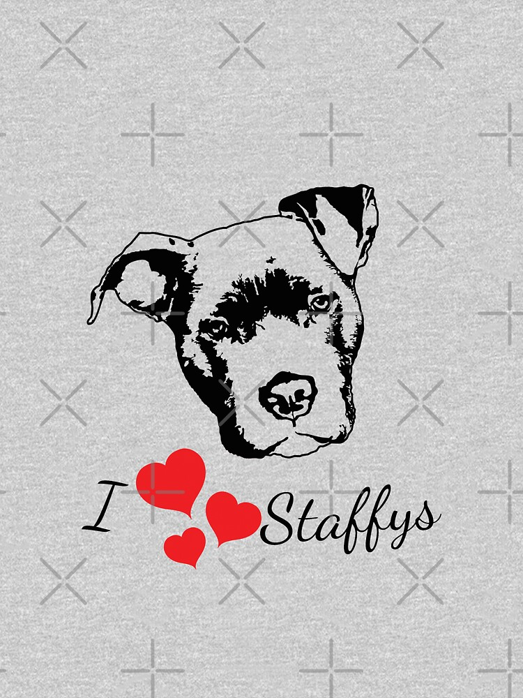 I Love Staffys by tribbledesign