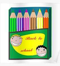 Back to school pencils Poster