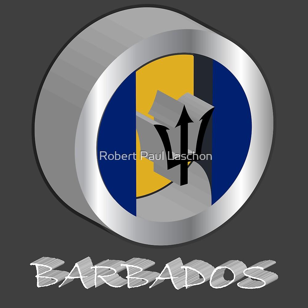 Barbados 3d flag by Laschon Robert Paul