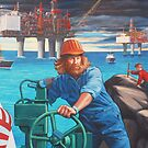 Maelstrom Mural - Construction Worker by Hobart  Higgins