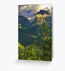 High Country - Glacier National Park Greeting Card