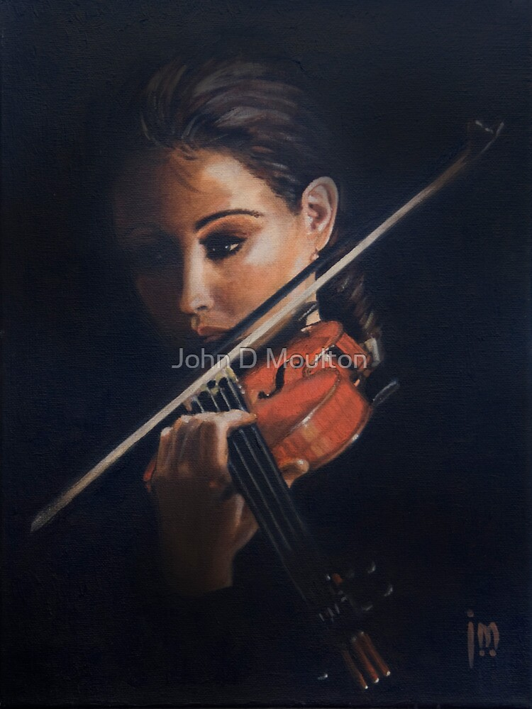 """Violin"" Oil on Canvas by John D Moulton"