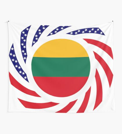 Lithuanian American Multinational Patriot Flag Series Wall Tapestry