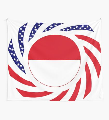 Monacan American Multinational Patriot Flag Series Wall Tapestry