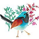 Beautiful Blue Bird by printmesomecolo