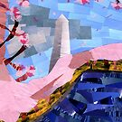 Cherry Blossoms and the Washington Monument by Jennifer Frederick