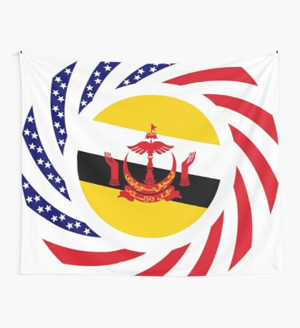 Bruneian American Multinational Patriot Flag Series Wall Tapestry