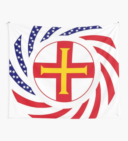 Guernsey American Multinational Patriot Flag Series Wall Tapestry
