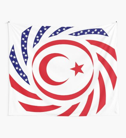 Northern Cyprus American Multinational Patriot Flag Series Wall Tapestry