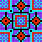 Pixel Pattern 1 by Genevieve Crabe