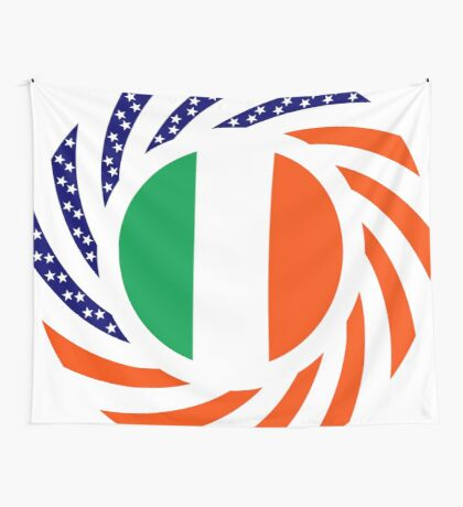 Irish American Multinational Patriot Flag Series Wall Tapestry