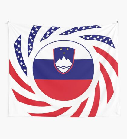 Slovenian American Multinational Patriot Flag Series Wall Tapestry
