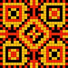 Pixel Pattern 3 by Genevieve Crabe