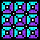 Pixel Pattern 4 by Genevieve Crabe