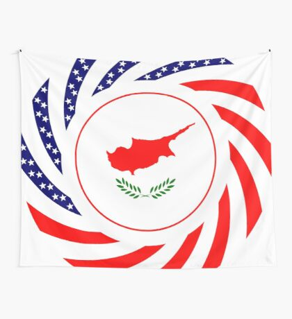 Cypriot American Multinational Patriot Flag Series Wall Tapestry