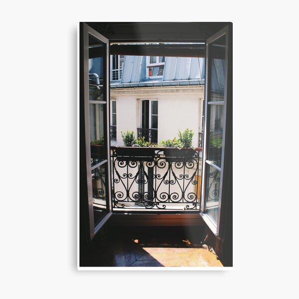 Window to Paris Metal Print