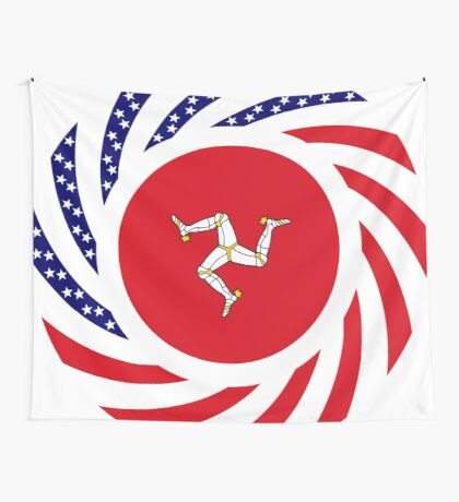 Manx American Multinational Patriot Flag Series Wall Tapestry