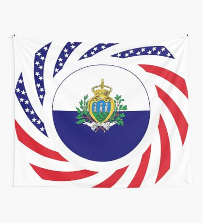 San Marino American Multinational Patriot Flag Series Wall Tapestry