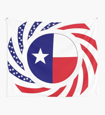 Texan Murican Patriot Flag Series Wall Tapestry