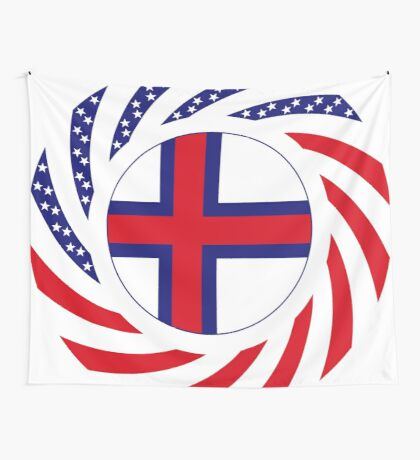 Faroe Islands American Multinational Patriot Flag Series Wall Tapestry