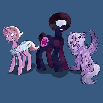 Crystal Gem Ponies by CharlieNoHead