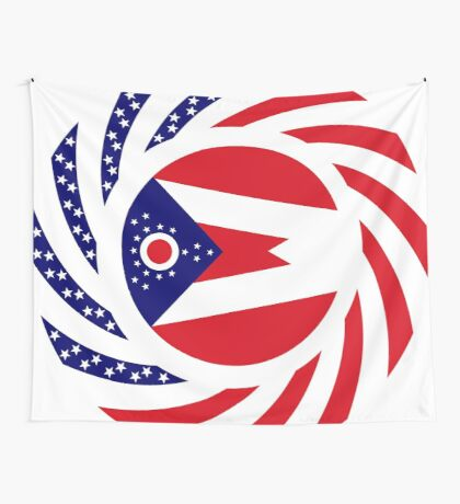 Ohio Murican Patriot Flag Series Wall Tapestry