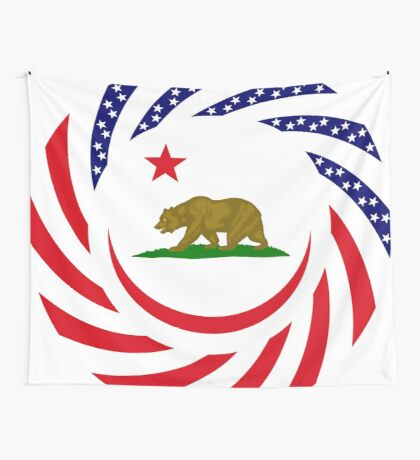 Californian Murican Patriot Flag Series Wall Tapestry