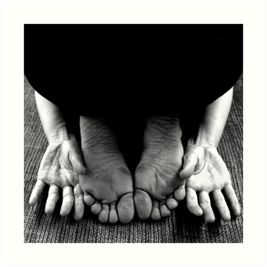 Balasana (child's pose) by Lauren Tober