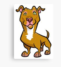 Red Pit Bull Canvas Print