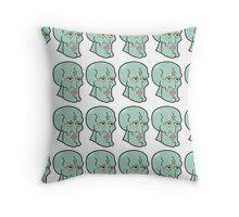 Handsome Squidward Grid Throw Pillow