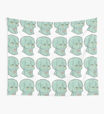 Handsome Squidward Grid Wall Tapestry