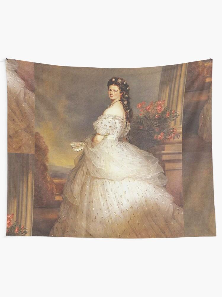 "Alternate view of Empress ""Sissy""...Elizabeth of Austria by Winterhalter Tapestry"