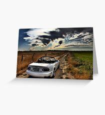 Miata on dirt road HDR Greeting Card