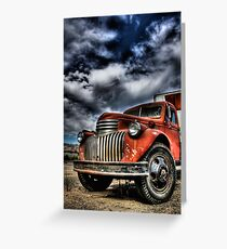 Old orange truck HDR Greeting Card