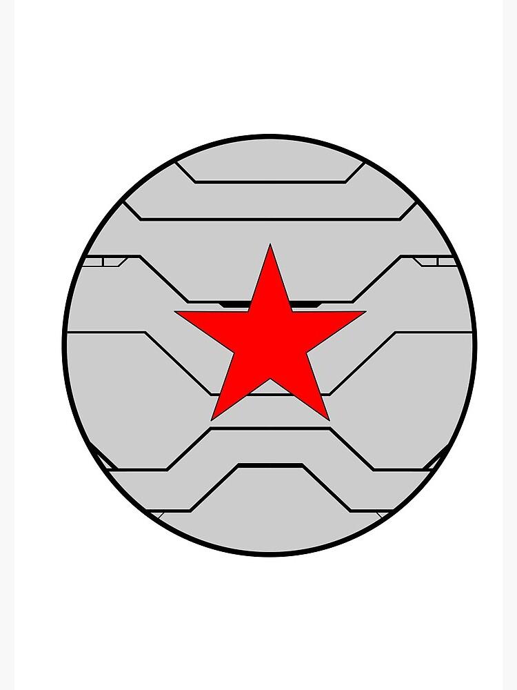 Winter Soldier Shield by healybec