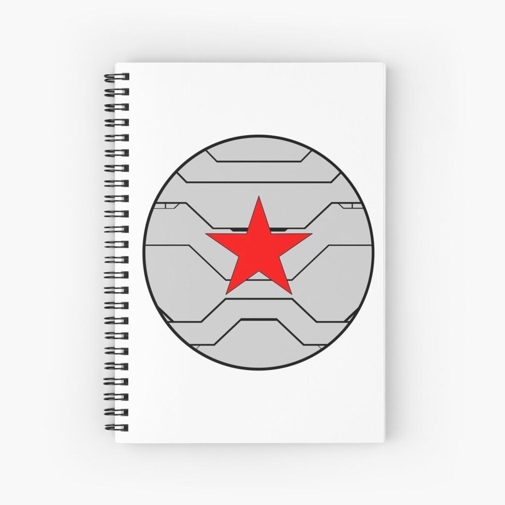 Winter Soldier Shield Spiral Notebook