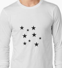 Black Star Sticker Pack Long Sleeve T-Shirt