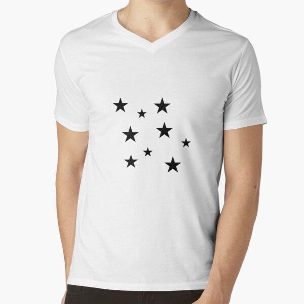 Black Star Sticker Pack T-Shirt mit V-Ausschnitt