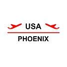 Phoenix Arizona USA Airport Plane Light-Color by TinyStarAmerica