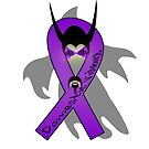 Demon of Domestic Violence Awareness Ribbon Character by SimplyMary
