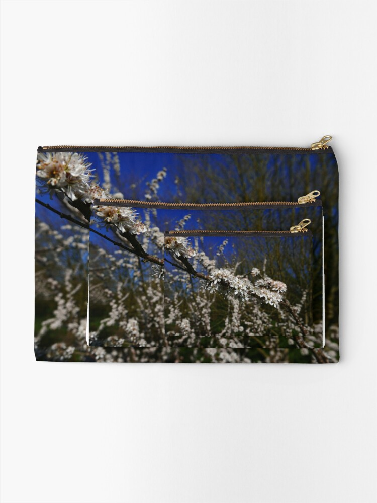 Alternate view of Blackthorn (Prunus spinosa) Zipper Pouch