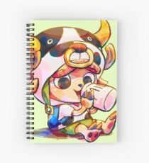 Cow Costume Chopper Spiral Notebook
